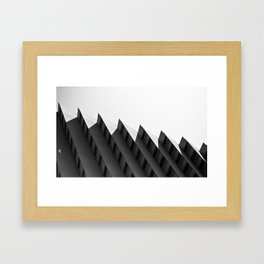 Step Building Framed Art Print