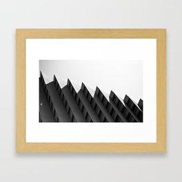 Step Building Framed Art Print