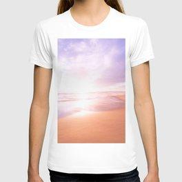 Sunset Beach Scene , Summertime, Pastel Sky T-shirt
