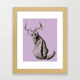 Kitty... deer...? Framed Art Print