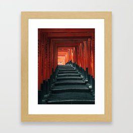 Fushimi Inari Shrine Torii Gates Kyoto Framed Art Print