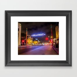 Hillcrest (San Diego) Sign - SD Signs Series #3 Framed Art Print