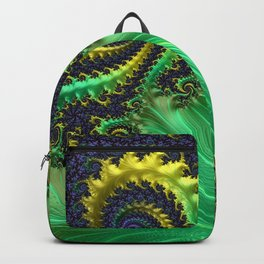 Green Lettuce Fractal by Amanda Martinson Backpack