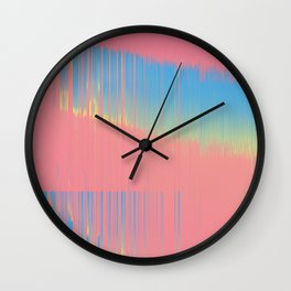 Hot 90's bckgrnd Wall Clock