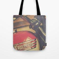 Vintage Triumph Bonneville Motorcycle Tote Bag