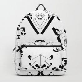 0-9 - Black & White Backpack