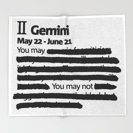 Gemini 1 Throw Blanket