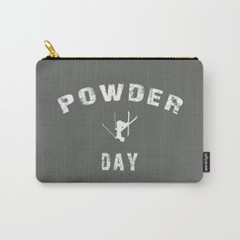 Powder Day Grey Carry-All Pouch