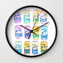 Watercolor La Croix Wall Clock