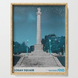 Logan Square - Illinois Centennial Monument 1918 Serving Tray