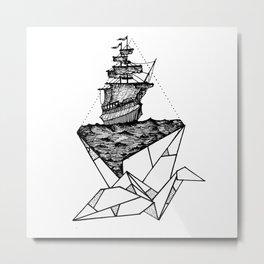 Flight on the sea Metal Print