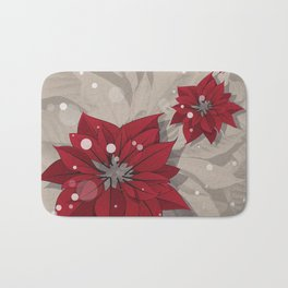 Poinsettias - Christmas flowers | BG Color I Bath Mat
