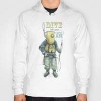 diver Hoodies featuring Diver by pakowacz