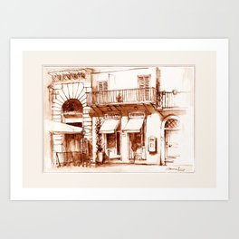 Boutiques in Piazza Navona Art Print