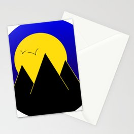 Pyramids in the night - Vector Stationery Cards