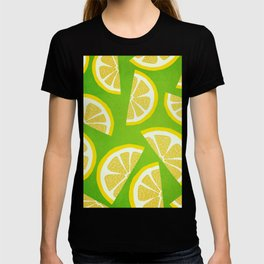 Lemon Slices Yellow And Green T-shirt
