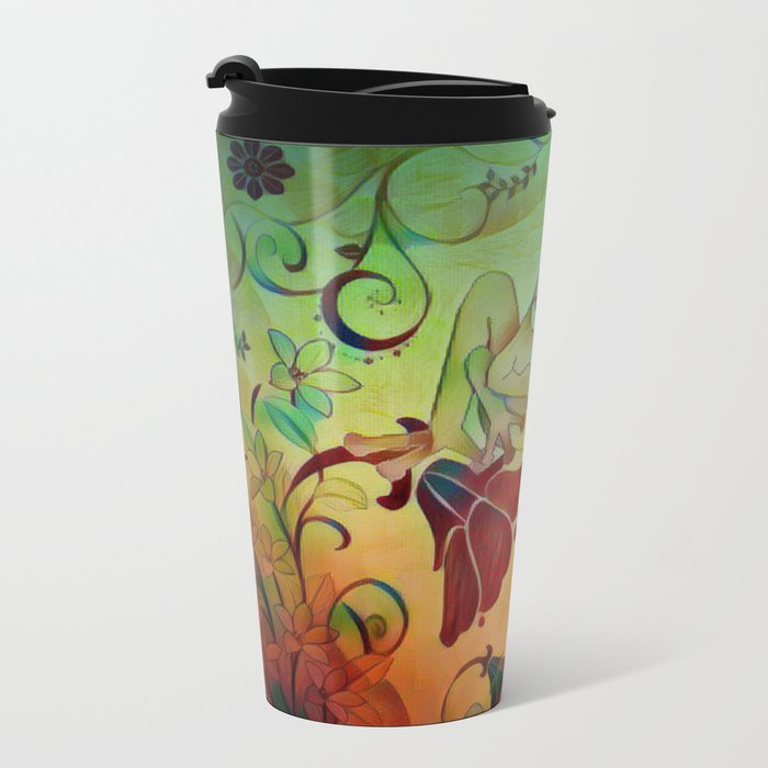 A Frogs World Metal Travel Mug