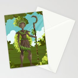 dryad nature tree forest guardian Stationery Cards