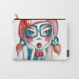 girl with cherry Carry-All Pouch