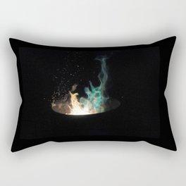 Blue Flames /// Rectangular Pillow