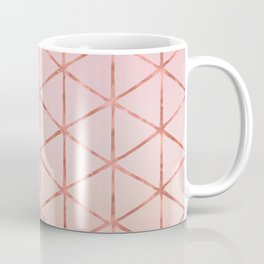 Triangle Pattern - Rose Gold Coffee Mug