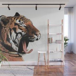 Yawning Tiger Wall Mural