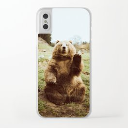 Hi Bear Clear iPhone Case