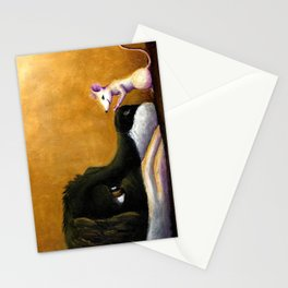 Dog and Mouse Stationery Cards