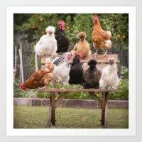 Chicken Squad Art Print
