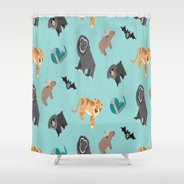 ASIAN JUNGLE ANIMALS PATTERN Shower Curtain