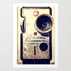 Brownie 8mm Art Print