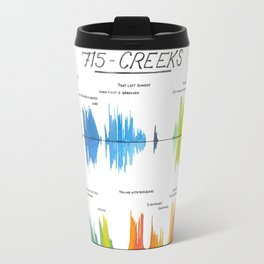 715 - CREEKS Bon Iver Sound file/Lyrics Art Travel Mug