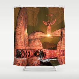 The angel of death Shower Curtain