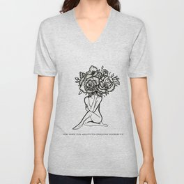 Love yourself first Unisex V-Neck