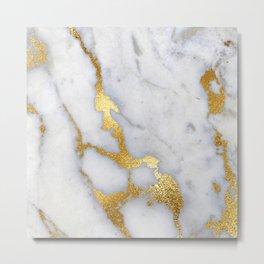 Italian gold marble II Metal Print