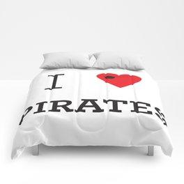 I heart Pirates Comforters