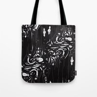 dramatical murder Tote Bags featuring dramatical by Marilyne Lafrontiere Mla.designs