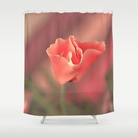 cartoons Shower Curtains featuring Awakening. by Mary Berg
