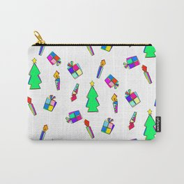 Ho Ho Ho Merry Christmas colorful illustration Carry-All Pouch