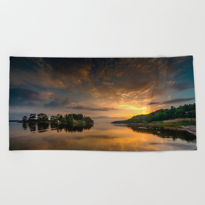 Serenity by dawn Beach Towel