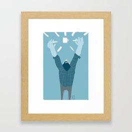 Coffee GET! Framed Art Print