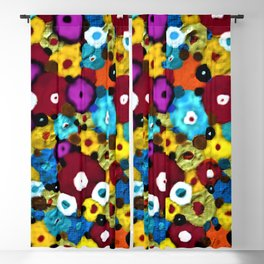 Mixed Flowers Blackout Curtain