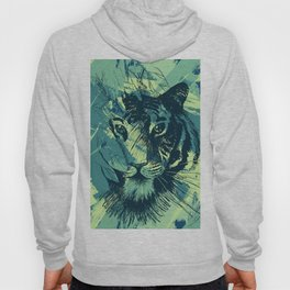 Abstract Grunge Wild Tiger Hoody