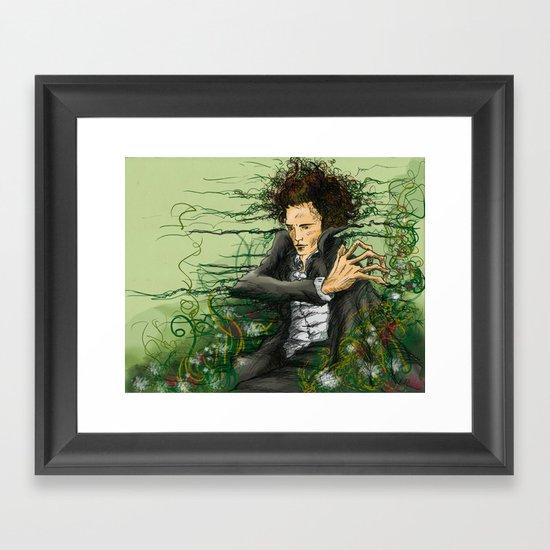 The green thumb curse I Framed Art Print