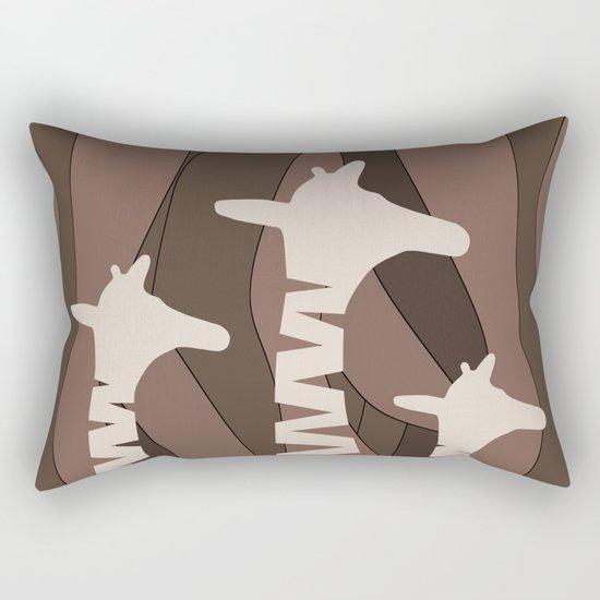 Abstract Giraffe Family Rectangular Pillow