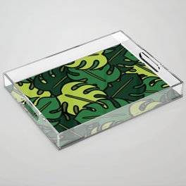 Monstera Leaf Pattern Acrylic Tray