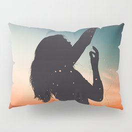 WOMAN - SUNRISE - SUNSET - LIGHTS - PHOTOGRAPHY Pillow Sham