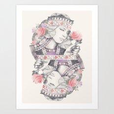 Queen of Roses Art Print