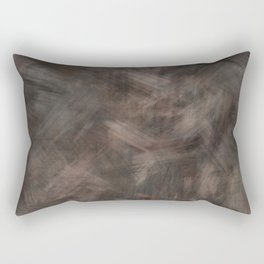 Brown dark misty look Rectangular Pillow