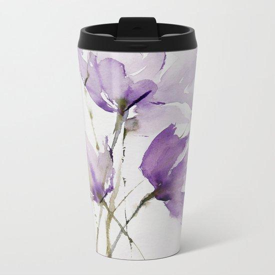 wilted tulips Metal Travel Mug
